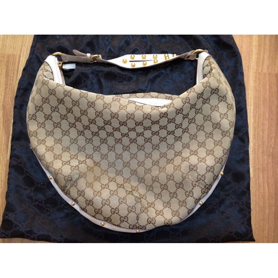 8a92ff20bb3a70 gucci monogram canvas logo white leather studded hobo bag purse 1-900x900