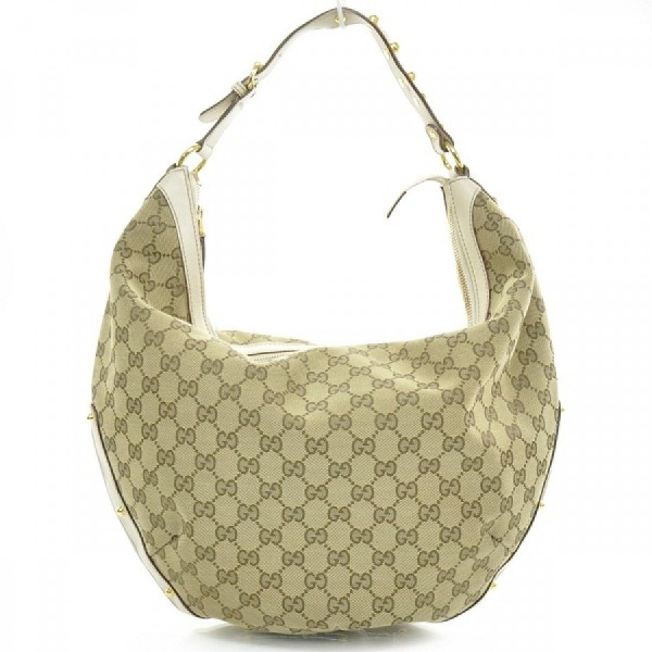 gucci monogram canvas logo white leather studded hobo bag purse 11-900x900