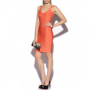 herve leger orange sydney solar bandage dress xs 6-900x900