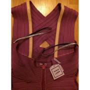 herve leger purple cross bust halter keyhole dress 5-900x900