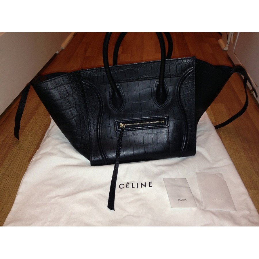 celine bags and prices - celine grey croc embossed phantom bag