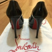 Christian Louboutin Black Patent Classic Bianca 140 Pumps Lust4Labels 5