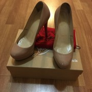 Christian Louboutin Nude Patent Leather Bianca 120mm Pumps Lust4Labels 1
