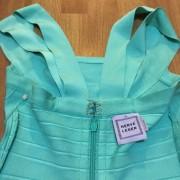 Herve Leger Double Strap Seafoam Green Blue Bandage Dress XS Lust4Labels 7