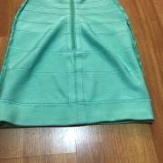 Herve Leger Double Strap Seafoam Green Blue Bandage Dress XS Lust4Labels 9