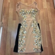 Jovani Mesh Nude Black Crystals Sequin Cocktail Dress XS 0 Lust4Labels 1