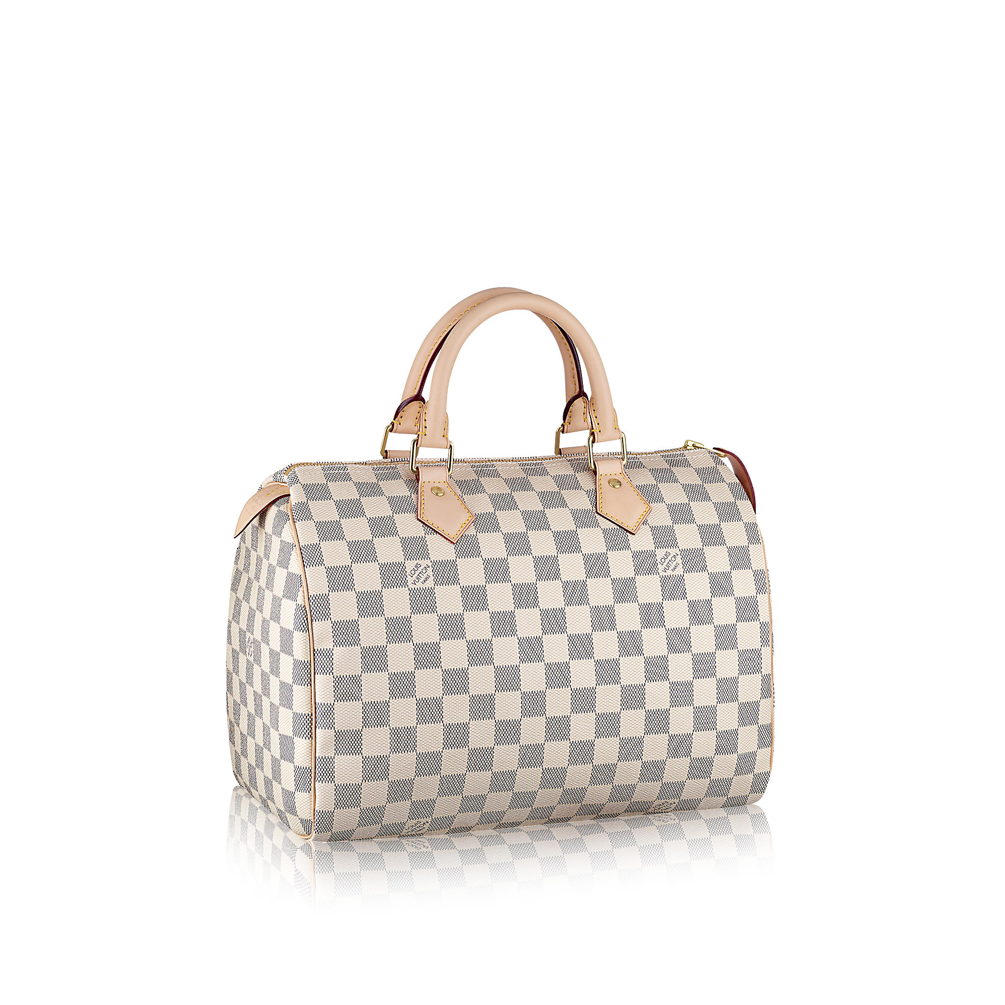 fea712a160f6  1300 Louis Vuitton Damier Azur White Checker Speedy 30 Tote Bag ...