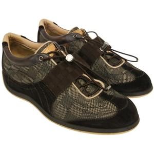 ee7659b3c3c  700 Louis Vuitton Damier Ebene Chrono Black Strap Sneakers Shoes SZ ...