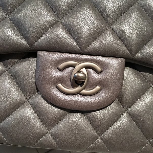 5ff1c820cfe0 Chanel Classic Silver Matte Metallic Lambskin Quilted Jumbo Bag Purse  Lust4Labels 2 lightbox · lightbox · lightbox · lightbox · lightbox