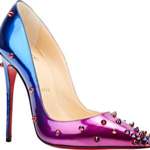 Christian Loubotin Ombre Pink Blue Degraspike 120 SZ 38.5 Lust4Labels 10