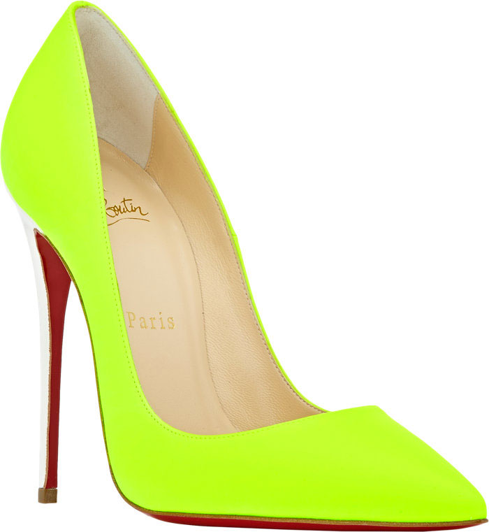 christian louboutin so kate neon yellow