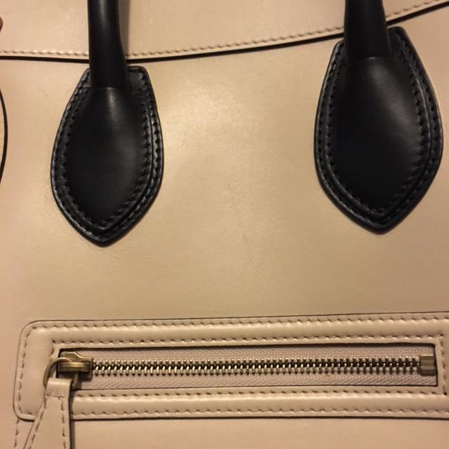 7885c866dc1  4000 Celine Paris Smooth Beige Nude Leather Mini Luggage Bag Tote ...