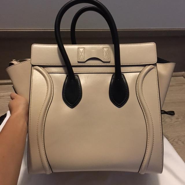 e17b37e2a7c ... release date  adf9b 0f927 4000 Celine Paris Smooth Beige Nude Leather  Mini Luggage Bag ...