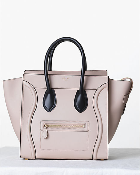443c46d1150 ... Paris Smooth Beige Nude Leather Mini Luggage Bag Tote Purse. Return to  Previous Page. Out. of stock. celine-satin-powder-with-black-handles-mini- luggage ...
