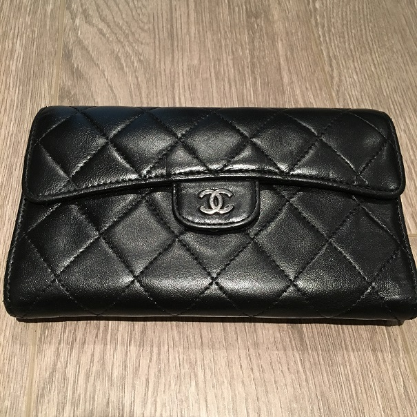 386c238e0cd9 Chanel Classic CC Logo Black Lambskin Leather Quilted Continental Wallet  Lust4Labels 1