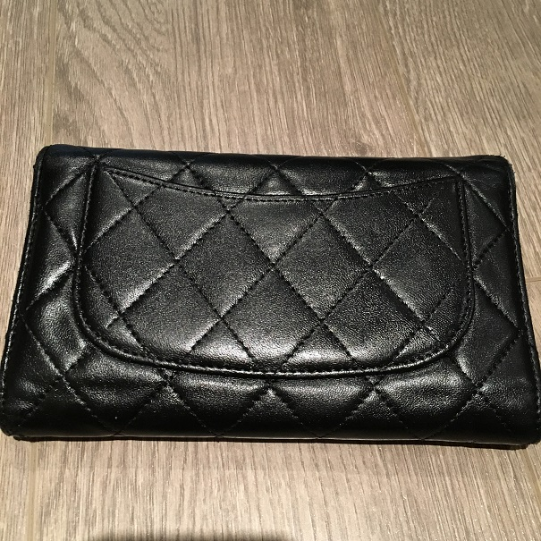 2ebba10c3066e4 Chanel Classic CC Logo Black Lambskin Leather Quilted Continental Wallet  Lust4Labels 1 lightbox · lightbox