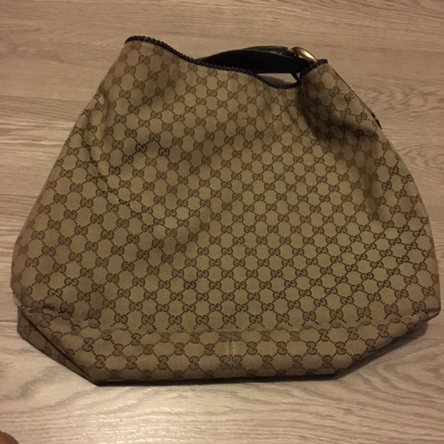 68f545ca5ae  1000 Gucci Monogram Canvas Brown GG Logo Large Hobo Shoulder Bag Purse.  Return to Previous Page. Out. of stock. gucci-tote lightbox · lightbox ·  lightbox