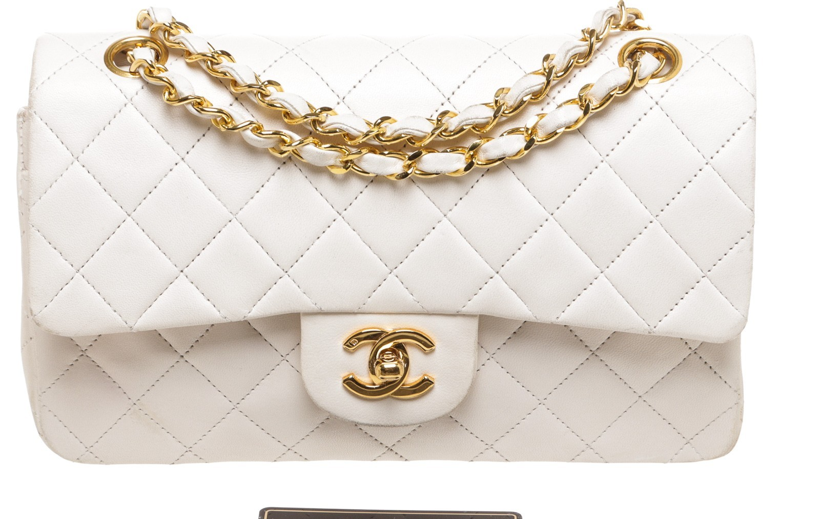 88531b94539d  4000 Chanel Classic White Quilted Lambskin Small Vintage Shoulder ...