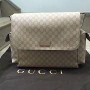 ebb4ae3e285c Gucci Monogram Canvas GG Plus Beige Pink Logo Large Baby Diaper Bag Purse  Lust4Labels 1