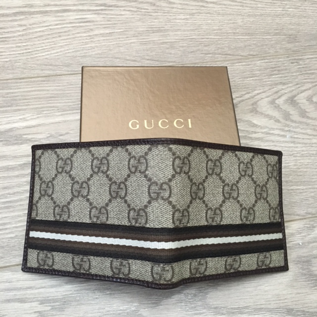 b425dd32b99a Gucci Monogram Canvas Logo Brown Stripe Mens Wallet Lust4Labels 1 lightbox  · lightbox