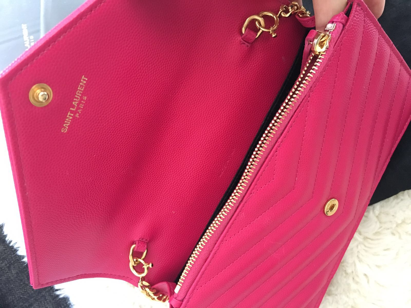 lightbox · lightbox · lightbox. prev. next. Yves Saint Laurent Paris YSL  Pink Leather Wallet on Chain GHW Shoulder Bag Purse Lust4Labels 12 08ae72d3424da