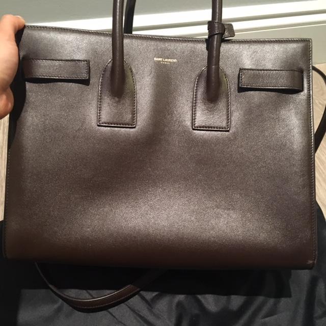 ysl replica - $3500 Yves Saint Laurent Smooth Calfskin Brown Small Sac De Jour ...