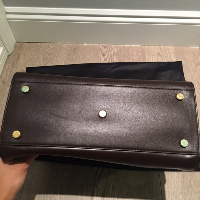 ysl classic baby duffle bag - $3500 Yves Saint Laurent Smooth Calfskin Brown Small Sac De Jour ...