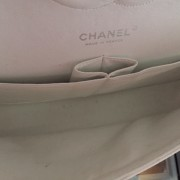 Chanel Classic White Caviar Quilted Leather Medium Flap Shoulder Bag Purse SHW Lust4Labels 11