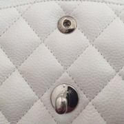 Chanel Classic White Caviar Quilted Leather Medium Flap Shoulder Bag Purse SHW Lust4Labels 15