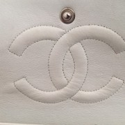 Chanel Classic White Caviar Quilted Leather Medium Flap Shoulder Bag Purse SHW Lust4Labels 17