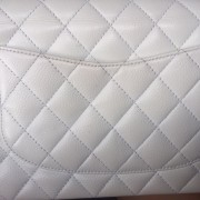 Chanel Classic White Caviar Quilted Leather Medium Flap Shoulder Bag Purse SHW Lust4Labels 22