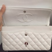 Chanel Classic White Caviar Quilted Leather Medium Flap Shoulder Bag Purse SHW Lust4Labels 4