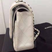 Chanel Classic White Caviar Quilted Leather Medium Flap Shoulder Bag Purse SHW Lust4Labels 8