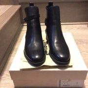 Burberry Brit Bridle House Check Black Leather Ankle Boots Lust4Labels 1