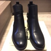 Burberry Brit Bridle House Check Black Leather Ankle Boots Lust4Labels 2