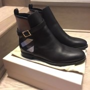 Burberry Brit Bridle House Check Black Leather Ankle Boots Lust4Labels 3
