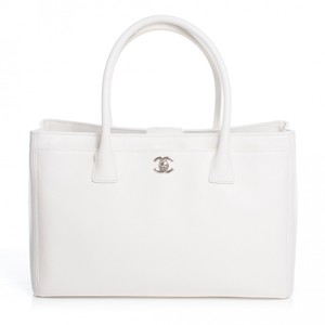 0d1d6902d160 $3500 Chanel Classic Cerf White Caviar Leather Executive Tote Bag ...