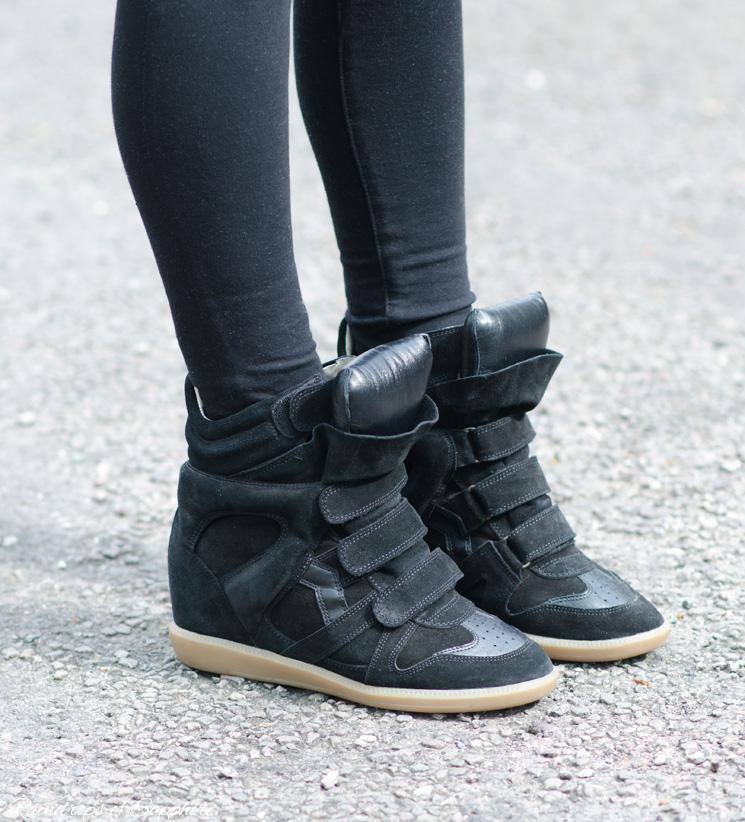 official photos d8769 b7b8b $700 Isabel Marant Black Leather Suede Bekett Sneaker Wedge Shoes SZ 37 7