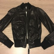 Mackage Black Jerry Bomber Leather Jacket XXS Aritzia Lust4Labels 1