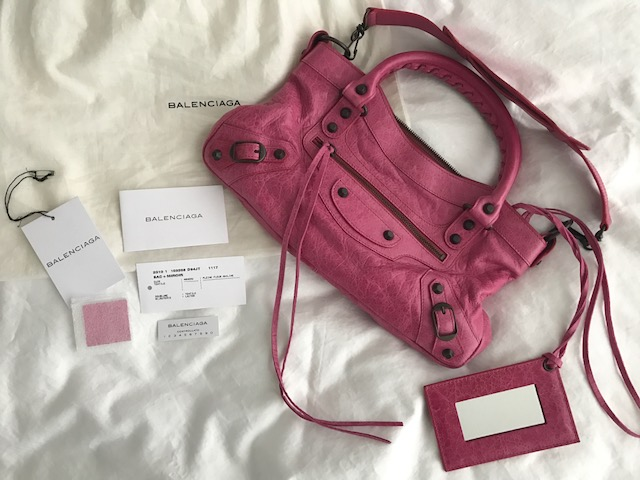Amazonas otra oportunidad ahorre hasta 80% $1500 Balenciaga Classic Pink Fuschia Leather Mini City ...