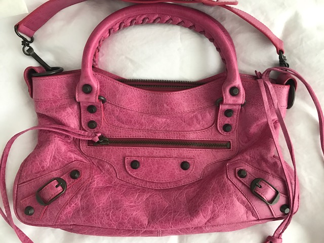 7970094f07b ... Classic Pink Fuschia Leather Mini City First Shoulder Bag Purse. Return  to Previous Page. Out. of stock. balenciaga first lightbox · lightbox