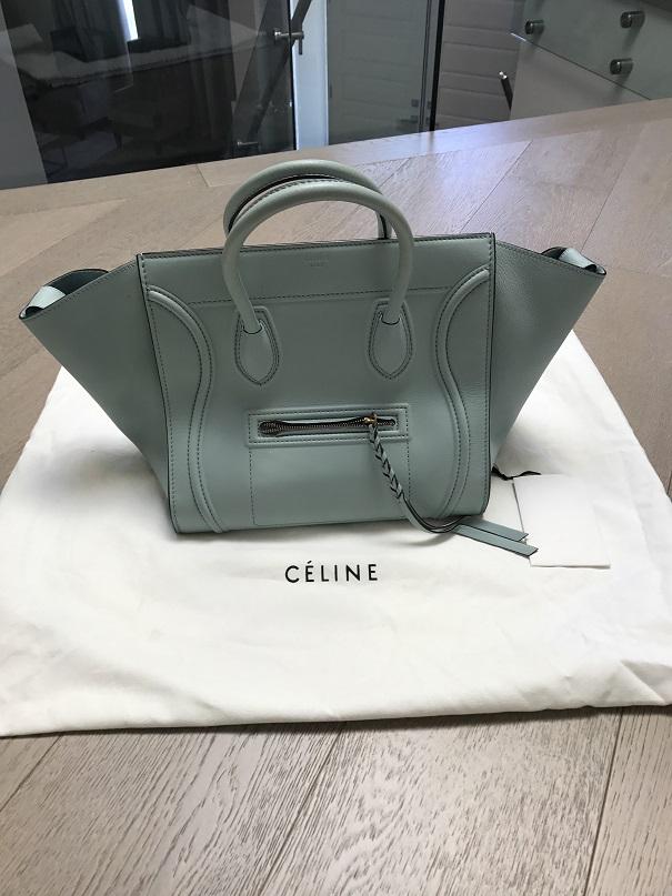 83391b2dd $3000 Celine Paris Light Glacier Blue Calf Leather Phantom Bag Purse ...