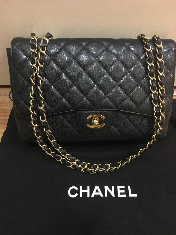 Chanel Classic Jumbo Black Caviar 18k GHW Lust4labels 17-900x900 lightbox ·  lightbox a24ace72b62c7