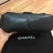 Chanel Classic Black Caviar Quilted Leather Jumbo Flap bag Purse GHW Lust4Labels 13