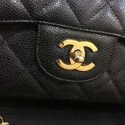 Chanel Classic Black Caviar Quilted Leather Jumbo Flap bag Purse GHW Lust4Labels 2