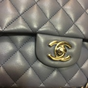 Chanel Classic Purple Quilted Lambskin Medium Flap Bag Purse SHW Lust4Labels 2