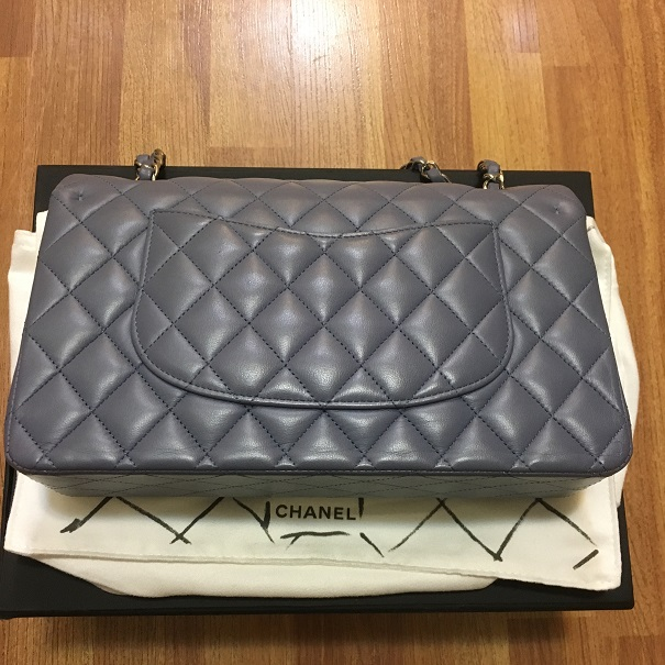 e0cfc6636948 Chanel Classic Purple Quilted Lambskin Medium Flap Bag Purse SHW  Lust4Labels 1 lightbox · lightbox