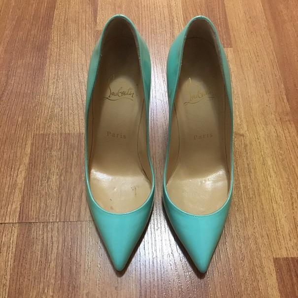 a925d86bb79 $800 Christian Louboutin Tiffany Blue Patent Leather Pigalle Follies ...