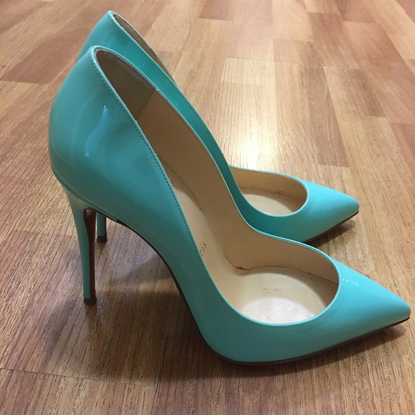 christian louboutin pigalle patent blue