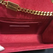Yves Saint Laurent Paris YSL Red Leather WOC Wallet on Chain GHW Lust4Labels 6